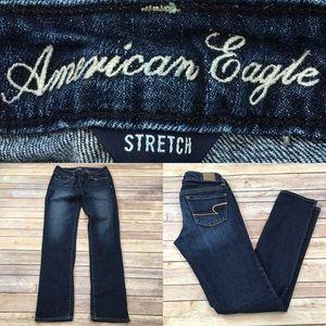 Size 0 AE Outfitters Dark Skinny Leg Denim Jeans